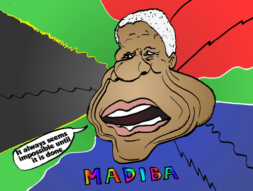 Cartoon: Nelson Mandela caricature (medium) by BinaryOptions tagged optionsclick,binary,option,options,nelson,mandela,madiba,caricature,portrait,comic,webcomic,south,africa,newsmaker,leader,editorial,news,info,politician,politics
