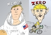 Cartoon: 2 Armstrong caricatures (small) by BinaryOptions tagged binary,option,options,trader,trading,optionsclick,lance,neil,armstrong,cyclist,zero,astronaut,apollo,hero,moon,news,financial,editorial,business,space,sports,celebrity,celebrities,caricature,cartoon,comic,satire