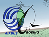 Cartoon: Airbus Boeing Bourget Venn (small) by BinaryOptions tagged optionsclick,option,binaire,options,binaires,trade,trader,trading,bourget,airbus,boeing,caricature,comique,webcomic,avion,aviation,avions,aerien,nouvelles,actualites,infos,news,boursier,financier,contrats,affaires,editoriale