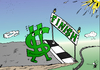 Cartoon: Buck Nears Bailout End (small) by BinaryOptions tagged forex,usd,trade,trader,trading,bucky,buck,dollar,bailout,stimulus,economic,fiscal,financial,business,editorial,caricature,cartoon,comic,binary,option,options,news,optionsclick,investing,federal,usa