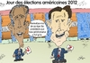 Cartoon: Obama et Romney en caricature (small) by BinaryOptions tagged president,barack,obama,mitt,romney,candidats,election,presidentielle,americaine,caricature,editoriale,entreprise,dessinee,bande,optionsclick,trader,tradez,options,binaires,negociation,option,nouvelles,news,infos,actualites,nationale,commerce