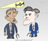 Cartoon: Obama Romney et le Batsignal (small) by BinaryOptions tagged option,de,trader,doptions,binaires
