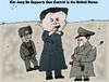 Cartoon: Satirization of Kim Jung Un (small) by BinaryOptions tagged binary,option,options,optionsclick,kim,jung,un,north,korea,dictator,target,practice,pistol,firing,gun,caricature,editorial,business,financial,news,opinion