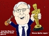Cartoon: Warren Buffet and his Oscar (small) by BinaryOptions tagged warren,buffet,optionsclick,oscar,best,actor,caricature,comic,webcomic,news,finances,market,trader,investor,trading,investing