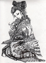 Cartoon: oiran (small) by meyco tagged oiran,japanese,kimono