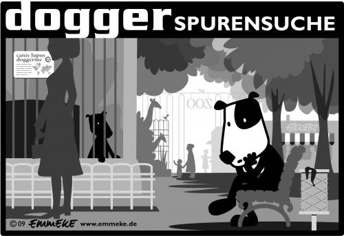 Cartoon: spurensuche (medium) by EMMEKE tagged dog,dogger,hund,emmeke,spur,spuren,spurensuche,zoo,seeking,traces