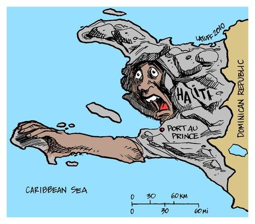 maps of haiti earthquake. Cartoon: Haiti earthquake