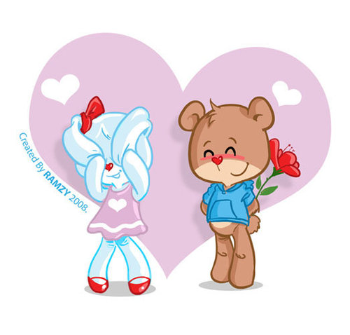 cute cartoon images of love. Cartoon: cute love (medium) by ramzytaweel tagged teddy,bear,lobe