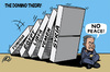 Cartoon: The Domino Theory (small) by ramzytaweel tagged palestine,israel,peace,domino