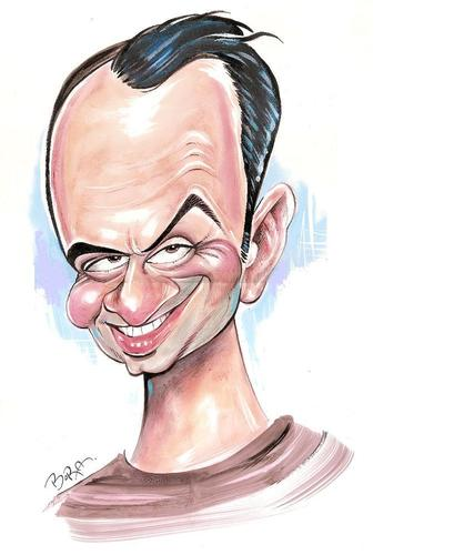 Cartoon: Mehmet SELCUK (medium) by MUSTAFA BORA tagged caricature