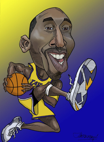 Cartoon: Kobe Bryant (medium) by Berge tagged caaricatures