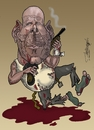 Cartoon: Bruce Willis (small) by Berge tagged caricature,american,actor