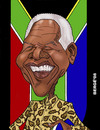 Cartoon: Nelson Mandela (small) by Berge tagged caricature politician president republica south africa