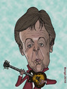 Cartoon: Paul McCartney (small) by Berge tagged caricature,english,pop,star,singer,musician,beatles