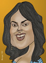 Cartoon: Salma Hayek (small) by Berge tagged caricature,mexican,actress,movie,latina