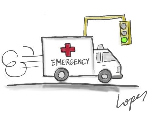 Cartoon: Nonstop Ambulance (medium) by Lopes tagged ambulance,traffic ...