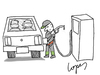 Cartoon: Biofuel Station (small) by Lopes tagged biofuel,gas,station,car,fuel,urine