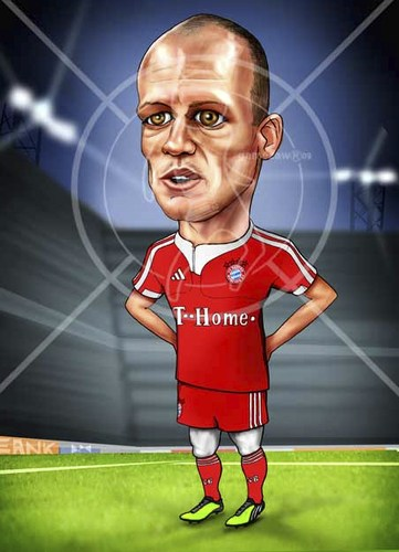 Cartoon: Arjen (medium) by gamez tagged robben,arjen,riba,ribery,bayern,fc,gamez,gmz,gomez,homer,merab,barem,stadium,arcadium,rhcp,etc