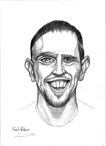Cartoon: Frank Ribery (medium) by gamez tagged fc,bayern,bundesligamez,france