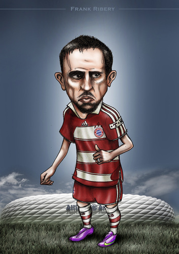 Cartoon: Frank (medium) by gamez tagged fc,bayern,football,germany,player