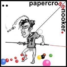 Cartoon: papercross (medium) by gamez tagged snooker,billard,game,papercross,billfy,dude,luiji,billy,debili,idiot,sooka,czesc