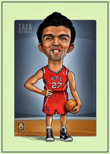 Zaza Pachulia By Gamez Sports Cartoon Toonpool