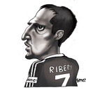 Cartoon: SpieLeR (small) by gamez tagged frank,ribery,france,player,spieler,bayern,munich,cartoon,caricature