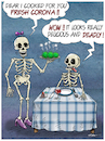 Cartoon: A delicious meal (small) by Ridha Ridha tagged delicious,meal,carona,food,cartoon,by,ridha