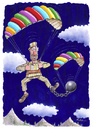 Cartoon: Parachute 1 (small) by Ridha Ridha tagged parachute,cartoon,by,ridha