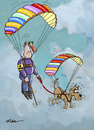 Cartoon: Parachute 2 (small) by Ridha Ridha tagged parachute,fallschirm,cartoon,ridha