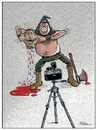 Cartoon: Say Cheese (small) by Ridha Ridha tagged say cheese black humor cartoon by ridha