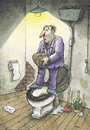Cartoon: Suicide in WC (small) by Ridha Ridha tagged suicide,in,wc,black,humor,cartoon,by,ridha