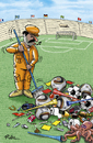 Cartoon: The day after Football WM 2010 (small) by Ridha Ridha tagged the day after football wm 2010 cartoon by ridha fussball sport fifa world cup