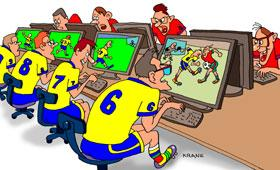 Cartoon: football (medium) by kranev tagged cartoons,news,comics,football,caricatures,funny,drawings