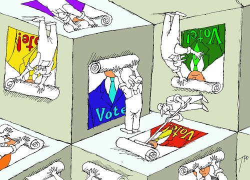 Cartoon: Election campaign (medium) by tunin-s tagged election,campaign