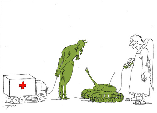 Cartoon: Humanitarian help (medium) by tunin-s tagged humanitarian,help