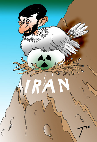 Cartoon: Iranian uranium (medium) by tunin-s tagged iranian,uranium