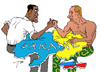Cartoon: Arm-wrestling (small) by tunin-s tagged armwrestling