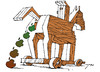 Cartoon: Das trojanische Pferd (small) by tunin-s tagged apple