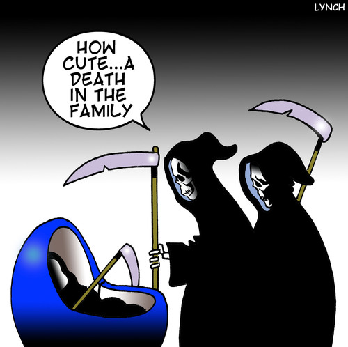 Cartoon a death in the family medium by toons tagged horsemen