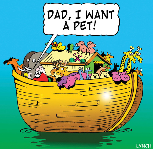 Cartoon: a pet (medium) by toons tagged noahs,ark,history,animals,pets,religion,god,bible,ships,vet,old,testament