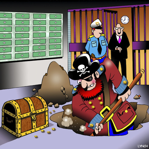 Cartoon: Bank deposit (medium) by toons tagged pirates,bank,deposits,chest,of,gold,vault,skull,and,crossbones,buried,treasure,pirates,bank,deposits,chest,of,gold,vault,skull,and,crossbones,buried,treasure