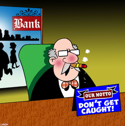 Cartoon: Banks (medium) by toons tagged robbery,getting,caught,thieves,dishonest,robbery,getting,caught,thieves,dishonest