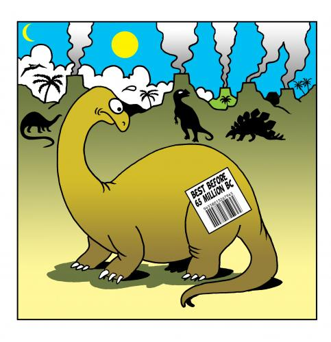 best before 65 million BC By toons | Nature Cartoon | TOONPOOL