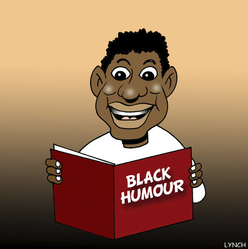 Cartoon: Black humour (medium) by toons tagged black,humour,funny,coloured,people,negro,jokes,laughing