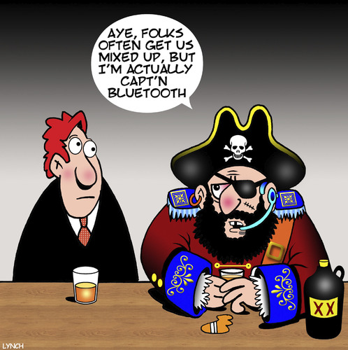Cartoon: Blackbeard (medium) by toons tagged bluetooth,history,captain,blackbeard,pirates,mistaken,identity,headphones,bluetooth,history,captain,blackbeard,pirates,mistaken,identity,headphones