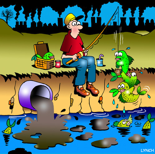 Cartoon: catch me catch me (medium) by toons tagged pollution,ocean,environment,global,warming,emissions,co2,fishing,fish,rivers,mercury,fisherman,catch,of,the,day,air,quality,me