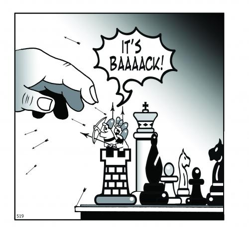 Cartoon: chess men (medium) by toons tagged chess,games,war
