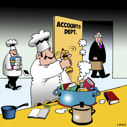 Image result for cooking the books cartoon