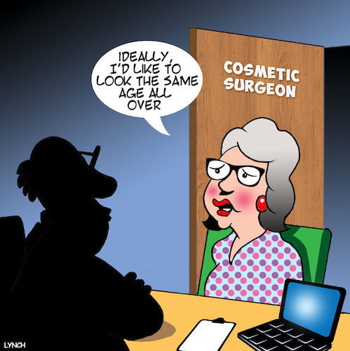 Cartoon: Cosmetic surgery (medium) by toons tagged plastic,surgery,cosmetic,botox,collegin,plastic,surgery,cosmetic,botox,collegin